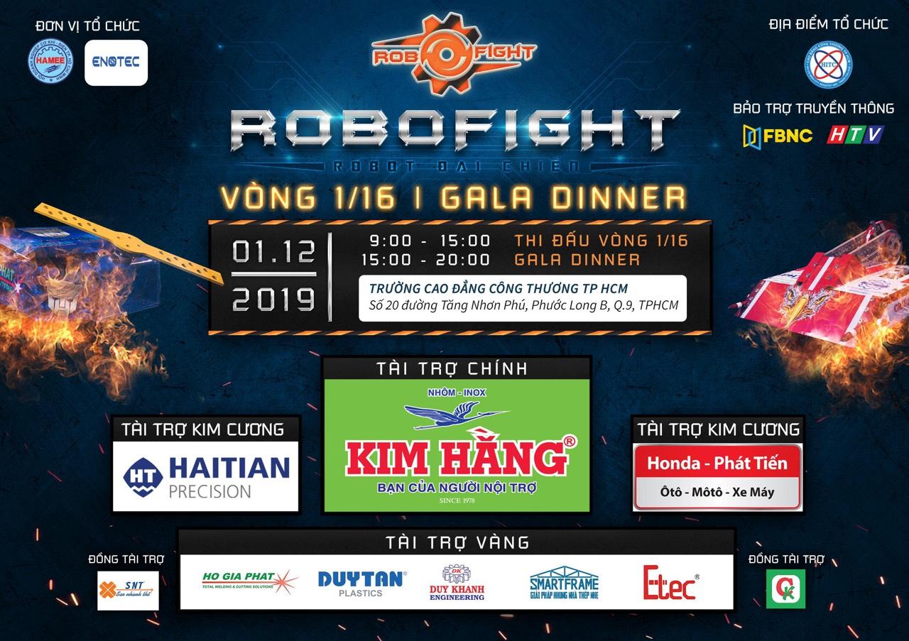 Thư mời tham dự vòng 1/16 giải Robofight - Robot Đại Chiến Mùa 2